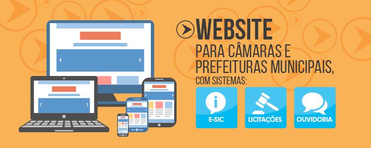Websites para Câmaras e Prefeituras Municipais